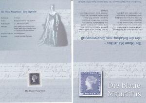 """MS 1847, Faksimile, Nachdruck """"Die blaue Mauritius"""", postfrisch, ** - Neutal, Österreich - MS 1847, Faksimile, Nachdruck """"Die blaue Mauritius"""", postfrisch, ** - Neutal, Österreich"""
