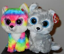 """Ty Beanie Boos Set ~ RIVER & WARRIOR the 6"""" Wolves ~ GWL Exclusives ~2016 NEW"""