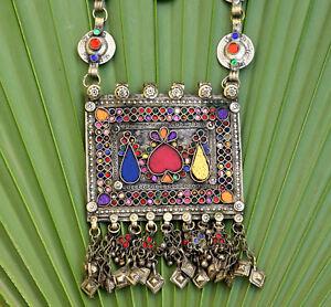 Big vintage afghan kuchi pendant necklace ethnic tribal chain image is loading big vintage afghan kuchi pendant necklace ethnic tribal aloadofball Gallery