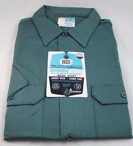 JCPenny-Mens-Big-Mac-Vintage-Work-Shirt-Size-L-Green-Short-Sleeve-NEW
