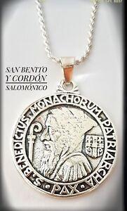 c18d636e098 Caricamento dell immagine in corso SAN-BENITO-MEDALLoN-PLATA -SILVER-EXORCISMO-CONTRA-MAL-
