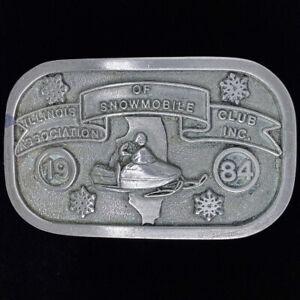 1984-Illinois-Asociacion-De-Moto-Nieve-Club-Snowmobiling-Vintage-Correa-Hebilla
