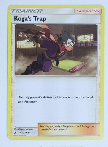 177//214 Pokemon Card koga/'s Trap Trainer Unbroken Bonds