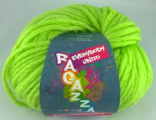 everybody unito 100g=9€ Winter Lana Grossa Ragazza stricken Wolle Garn