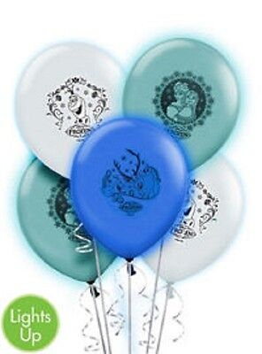 Disney Frozen Birthday Party Light Up Balloons - 5pc Package