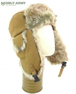 USSR-Style-Antarctica-Trapper-Hat-Faux-Fur-Winter-Cold-Weather-Hat-USHANKA-Snow
