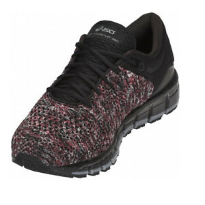 409e546a09e Details about ASICS MEN S RUNNING SHOES GEL-Quantum 360 Knit Black Classic  Red Stone Grey