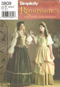 designer costume sewing pattern renaissance lady wench