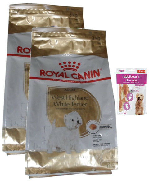2x3kg Royal Canin West  White Terrier Adult  + 80g Fleischsnacks