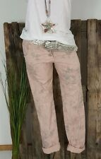NEU ITALY BAGGY BOYFRIEND HOSE PANTS STRETCH 🌹 SHABBY ROSEN 🌹 ALTROSA XL 40 42