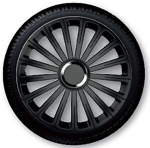 4 Copricerchi auto universali coppa ruota 14'' borchie GORECKI RADICAL PRO nera
