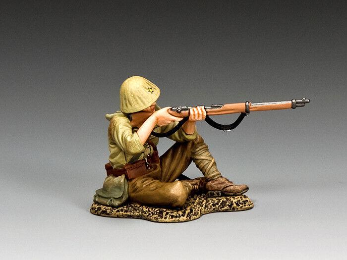 King and Country WWII Japanese Infantryman Sitting Firing Rifle JN054 MIB