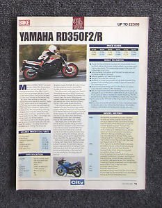 YAMAHA-RD350-1994-Motorcycle-Magazine-Page-Review-Test-Brochure-RZ350-RD-RZ-350
