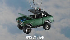 Vintage Style 1972 Ford Bronco 4x4 Custom 1/64 Christmas Ornament Emblem Adorno