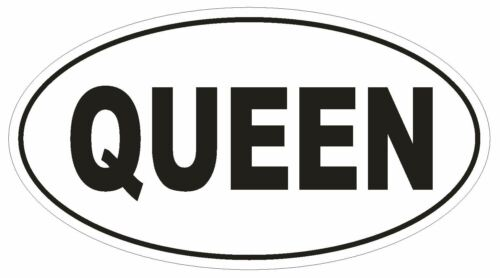 QUEEN Oval Bumper Sticker or Helmet Sticker D1804 Euro Oval