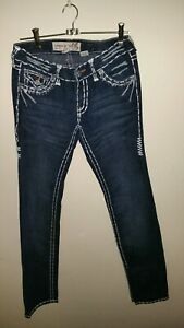 Womens-Sz10-Stretch-Jeans-Laguna-Beach-Brand-Rock-Of-Lifestyle-Gothic-Style-Made