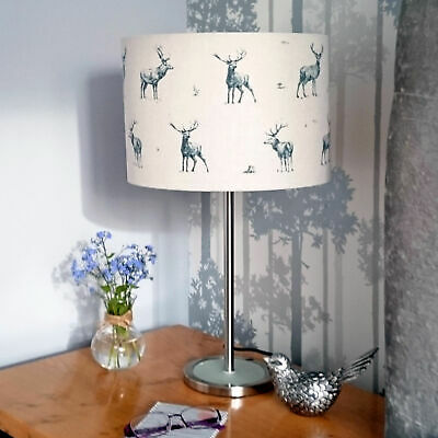 Grey Stag Lampshade Deer Light Shade Rustic Woodland Country