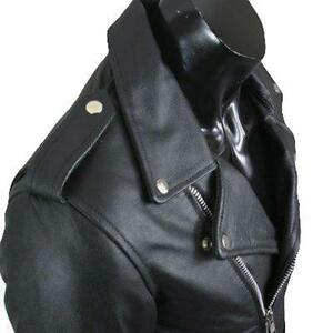 REV Leather Mens Black Classic Motorcycle Perfecto Brando ...
