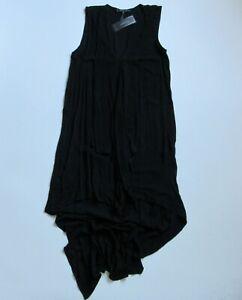 NWT-BCBG-MaxAzria-Tara-in-Black-Sheer-Crepe-Cascade-Ruffle-High-Low-Dress-S-178