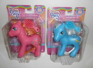 My Little Pony Amberlocks & Starbeam 25th Birthday Celebration 2007 New Old Stoc