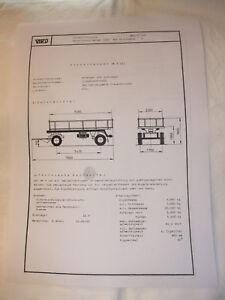 Ddr Werbung Reklame Prospekt Datenblatt Kippanhänger Hk 8 Veb Treuenbritzen 1981