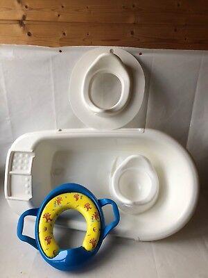 Beliebte Marke Rotho Babydesign Klo Aufsatz Kindersitz + Baby Badewanne +topfe +saubär Kloring Reich Und PräChtig