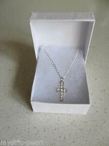1st Holy Communion Cross Crucifix Pendant on Silver Plated Necklace in Gift Box - <span itemprop='availableAtOrFrom'>Essex, United Kingdom</span> - 1st Holy Communion Cross Crucifix Pendant on Silver Plated Necklace in Gift Box - Essex, United Kingdom