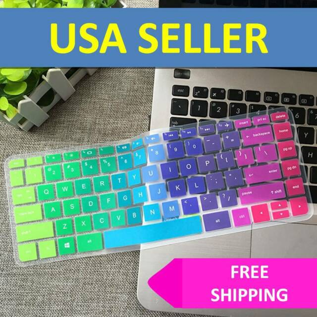 Rainbow Keyboard Cover Skin Case Silicone for Hp Pavilion Stream 14 Inch Laptop
