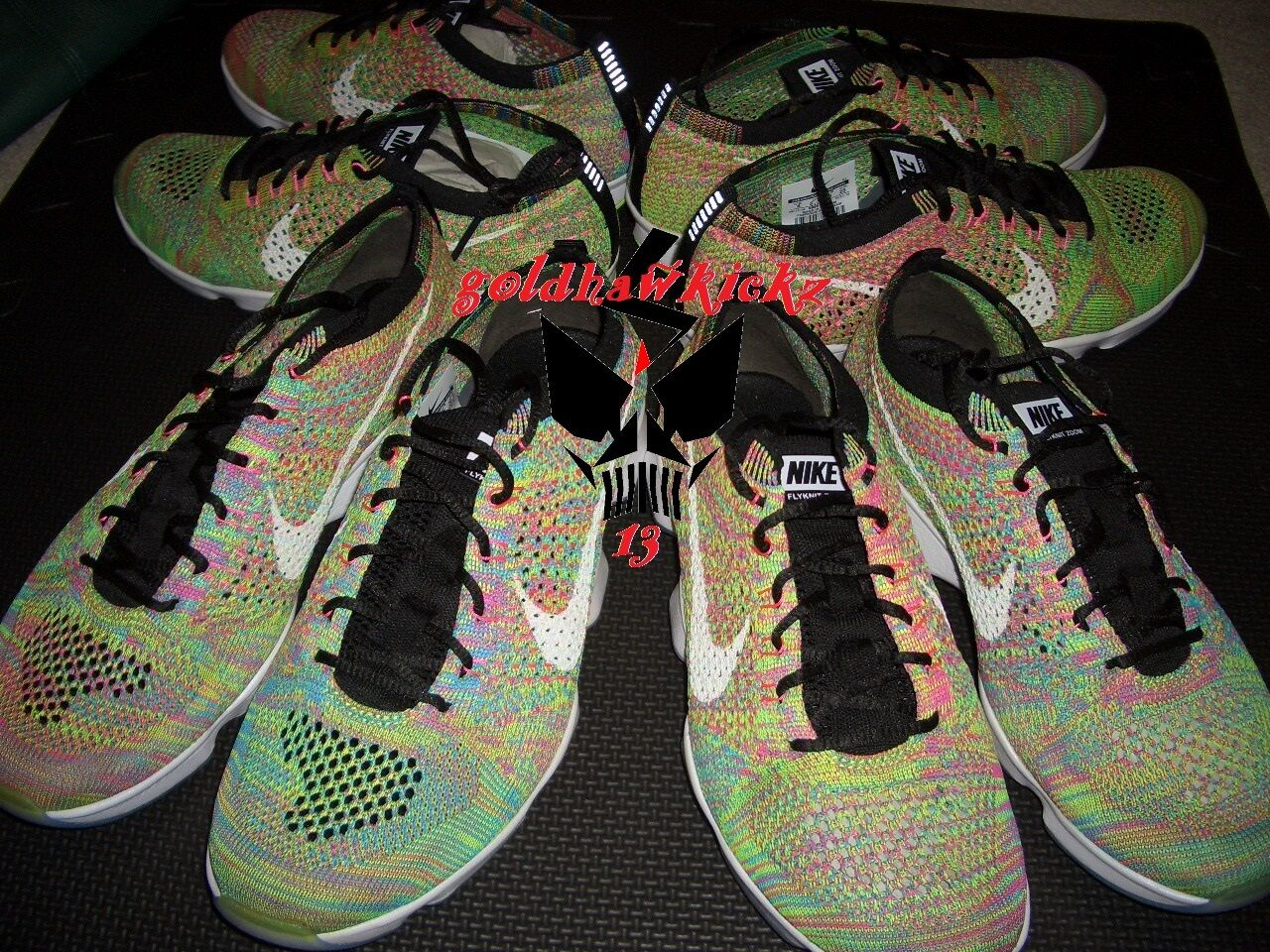 Nike Flyknit Zoom Agility Multicolor MC Racer Trainer 698616 002
