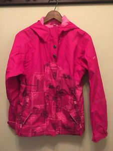 039ce950c997 Columbia Sportswear Girls Youth 14 16 Waterproof Jacket Pink Floral ...
