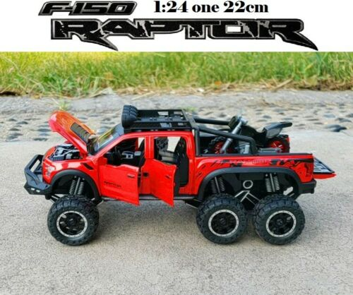 1//24 FORD F-150 RAPTOR OFF ROAD ALLOY DIECAST PULL BACK CAR TOY GIFT COLLECTIBLE