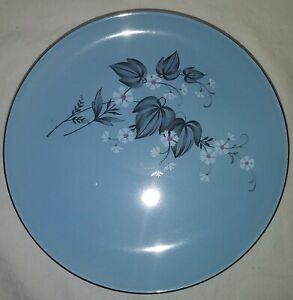 Taylor Smith & Taylor TST72 Blue Mist Versatile Black Leaf Salad Plates Set Of 7