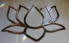 Garden Lotus Flower Copper Plated Metal Wall Art Decor