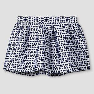 Genuine Kids by OshKosh Toddler Girls Size 4T Blue Jacquard Skirt NWT NEW