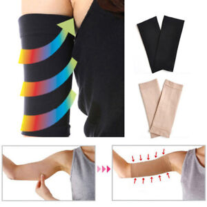 415830dbad 1 Pair Women Compression Slim Arms Sleeve Shaping Arm Shaper Upper ...
