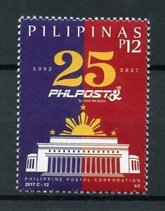 Filippine-2017-Gomma-integra-non-linguellato-postale-Corporation-phlpost-25th-ANNIV-1v-Set