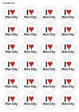 Precut Man City Football Shirt 12 Edible Cupcake Toppers Decoration