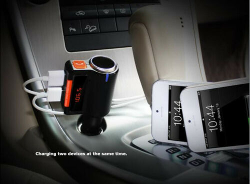 Car SUV Wireless BT FM Transmitter MP3 Player LCD Hands Free 2USB Charger