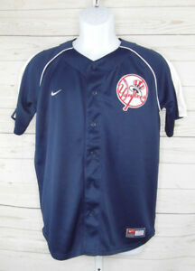 Details about NIKE MLB NY Yankees Jersey Shirt Genuine Merchandise Button  Up Youth Sz L 16,18
