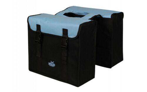 Fahrrad Gepäckträger Tasche Doppel Greenlands Schwarz Blau 34 Liter Gepäcktasche