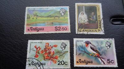 2019 Neuer Stil Antigua, Stamps, Konvolut, 4 Verschiedene Marken, Gest.