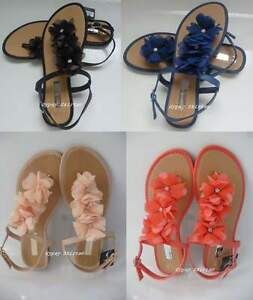 9b9e1a0c14096c Image is loading Primark-Chiffon-Flowers-Sandals-Flip-Flops-Beach-Summer-