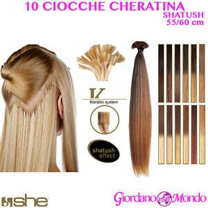 Extension capelli veri cheratina ebay