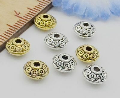 Free Ship 100Pcs Tibetan Silver Spacer Beads For Jewelry Making 6mm