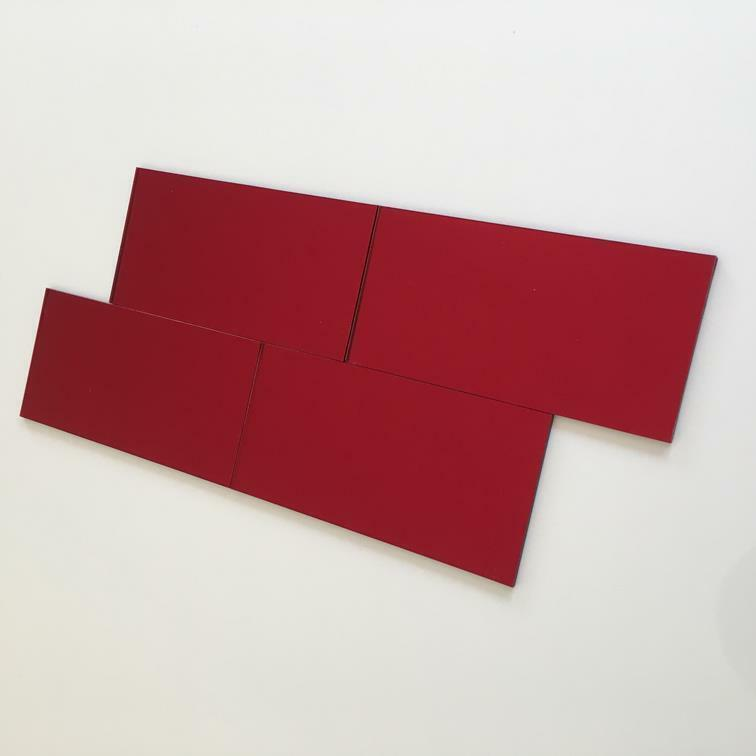 rot MirrGoldt Acrylic Rectangle Crafting Mosaic Wall Tiles, 1cm-25cm, 1 -10