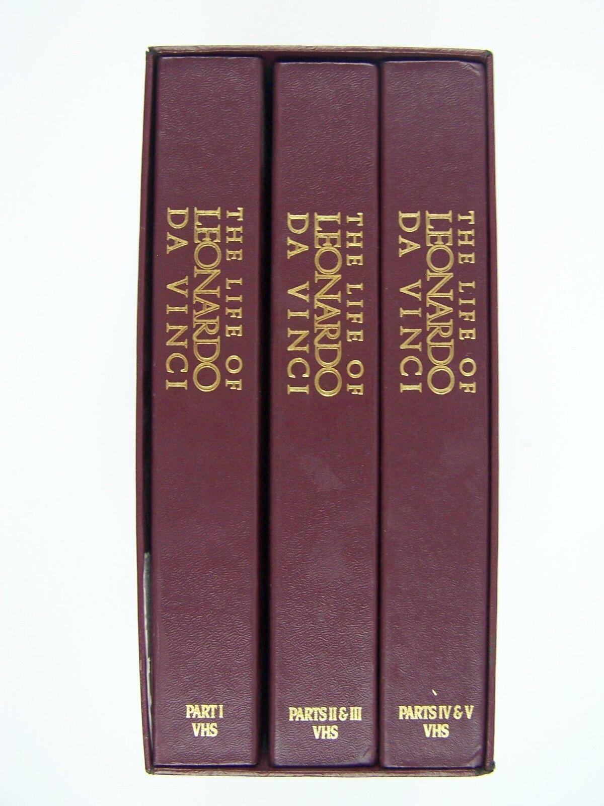 The Life of Leonardo Da Vinci 3 Tape VHS Box Set 339370