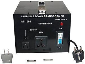 1000 W Watt Heavy Duty Step Up//Down Voltage Converter Transformer 110V TO 220V