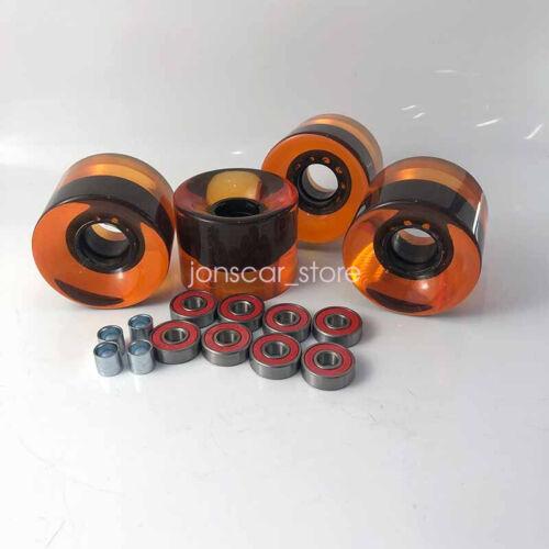 16pcs Skateboard Part Kit 78A 60*45mm Transparent Wheels ABEC-9 Bearings Spacers