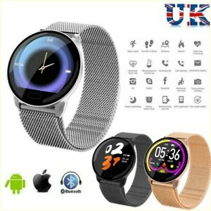 Le-Donne-Uomini-Impermeabile-HD-Smart-Watch-Bracciale-Fitness-per-iPhone-Android-Samsung