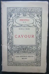 1939 CAVOUR collana profili n.41 biografia Murri editrice Bietti